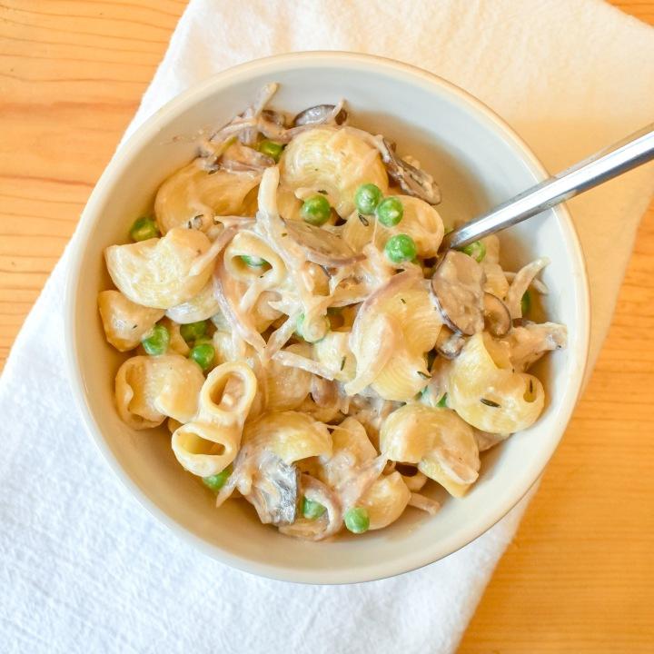 Creamy Mushroom Shallot Pasta