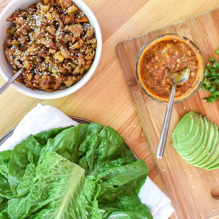 TURKEY + VEG LETTUCE WRAPS