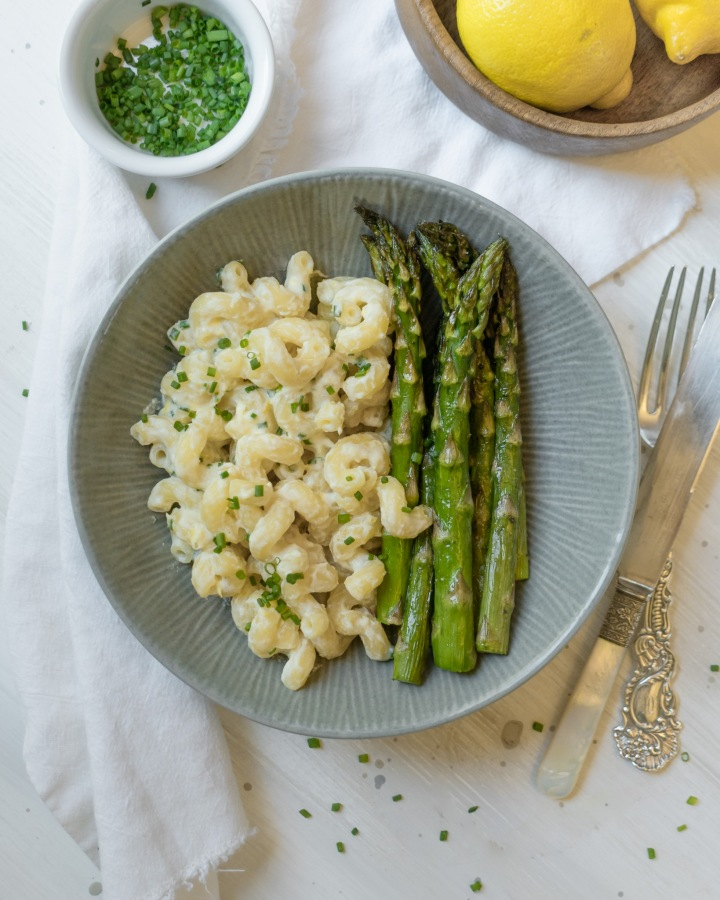 LEMON RICOTTA PASTA W/ ROASTED ASPARAGUS